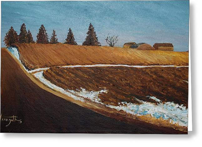 Monica Veraguth Greeting Cards - Afternoon Thaw Greeting Card by Monica Veraguth
