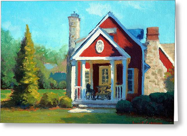 Cabrera Greeting Cards - Afternoon the Gameskeeper Cottage Greeting Card by Armand Cabrera