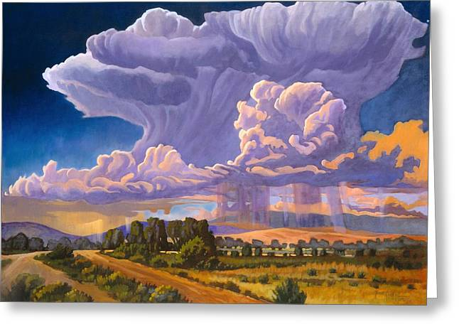 Verga Greeting Cards - Afternoon Thunder Greeting Card by Art James West