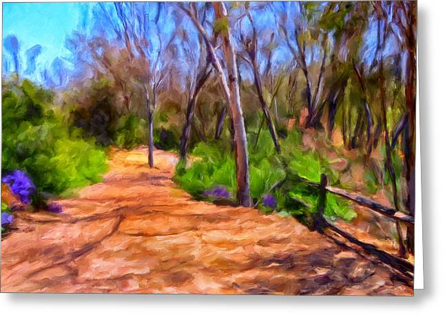 Split Rail Fence Greeting Cards - Afternoon Walk Greeting Card by Michael Pickett