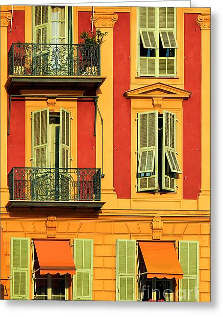Cote Greeting Cards - Afternoon Windows Greeting Card by Inge Johnsson