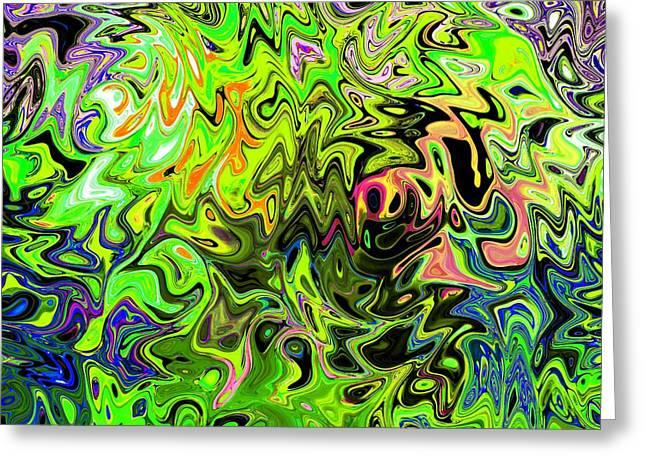 Aftershock Greeting Cards - Aftershock - Abstract Digital Art Original Greeting Card by Karl Jones
