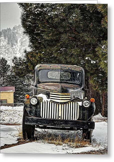 Old Street Greeting Cards - Afther the Snow Falls Verticle Greeting Card by Ken Smith