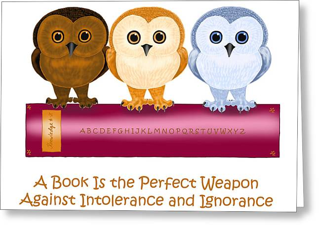Against Ignorance Greeting Card by Leena Pekkalainen