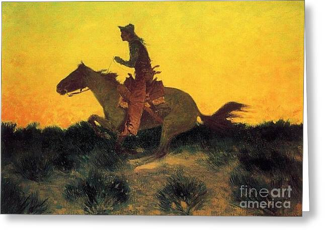 Against The Sunset Greeting Card by Pg Reproductions