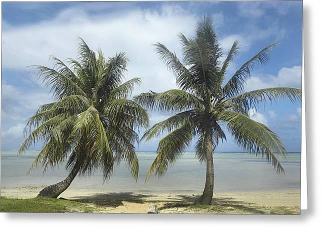 Tim Fitzharris Greeting Cards - Agana Beach in Guam Greeting Card by Tim Fitzharris