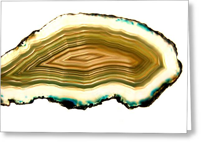 Agate Greeting Cards - Agate 1 Greeting Card by Gina Dsgn