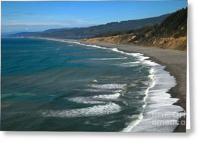 Sandy Point Park Greeting Cards - Agate Beach Greeting Card by Adam Jewell