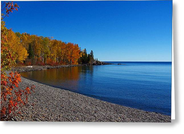 Agate Beach Greeting Cards - Agate Beach on Lake Superior Greeting Card by Steve Anderson