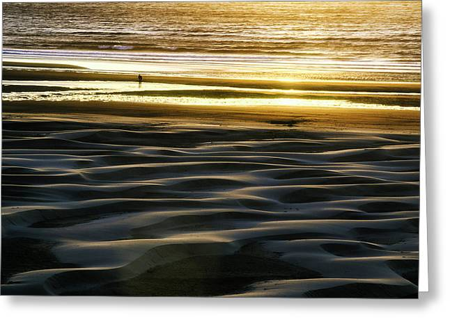Agate Beach Oregon Greeting Cards - Agate Beach Sunset Greeting Card by Thomas Chamberlin