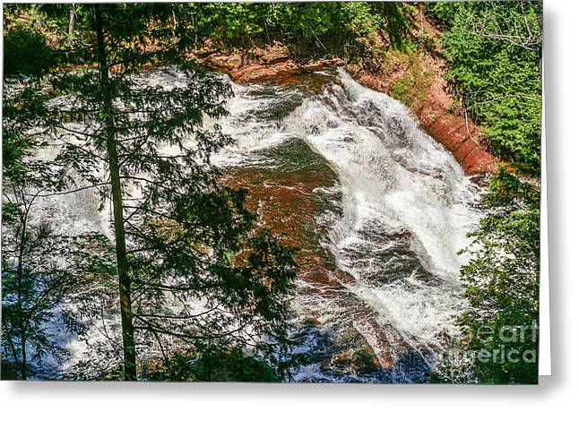 Sue Smith Greeting Cards - Agate Falls Greeting Card by Sue Smith
