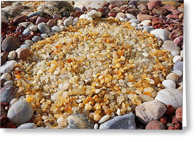 Agate Beach Greeting Cards - Agate Rock Garden Art Prints Coastal Beach Greeting Card by Baslee Troutman
