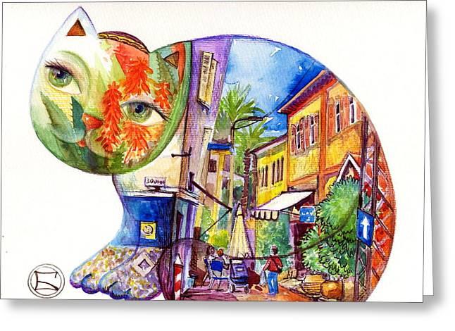 Agava Greeting Cards - Agava in Tel Aviv Greeting Card by Oxana Zaika