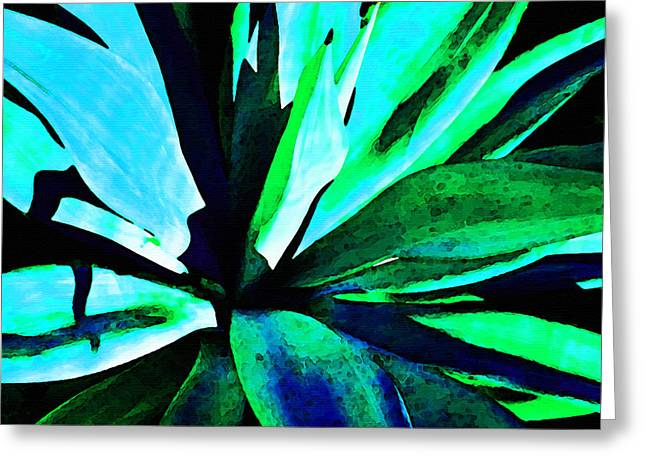 Nectar Greeting Cards - Agave - High Contrast Art By Sharon Cummings Greeting Card by Sharon Cummings