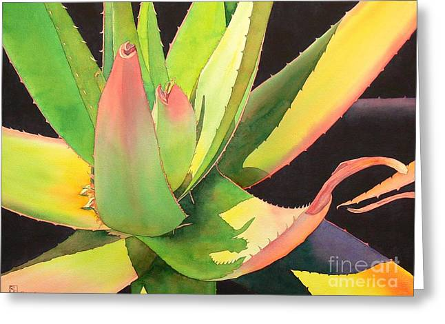 Succulents Greeting Cards - Agave Greeting Card by Robert Hooper