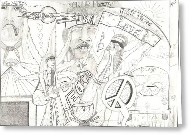 Age Of Aquarius Greeting Card by Daryl Schooley
