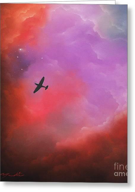 Airplane Pastels Greeting Cards - Age of Heroes Greeting Card by Chris Mackie