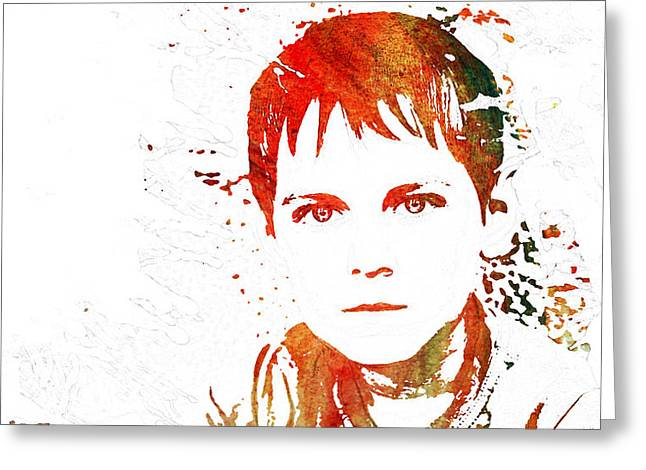Innocence Child Greeting Cards - Age of Innocence Greeting Card by Celestial Images