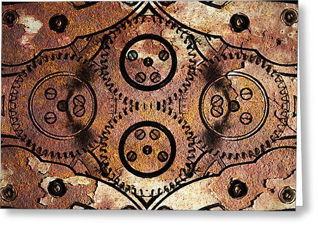 Age Of The Machine 20130605rust vertical Greeting Card by Wingsdomain Art and Photography
