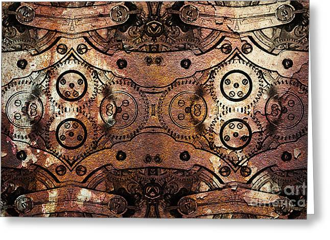 Age Of The Machine 20130605rust Greeting Card by Wingsdomain Art and Photography