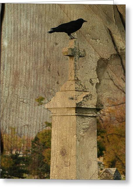 Montage Art Greeting Cards - Age Old Greeting Card by Gothicolors Donna Snyder