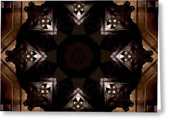 Indiana Photography Digital Greeting Cards - Aged Wood Kaleidoscope Greeting Card by Jim Finch