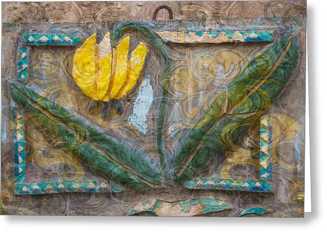 Beautiful Creek Mixed Media Greeting Cards - Aged Yellow Brilliance Greeting Card by Omaste Witkowski