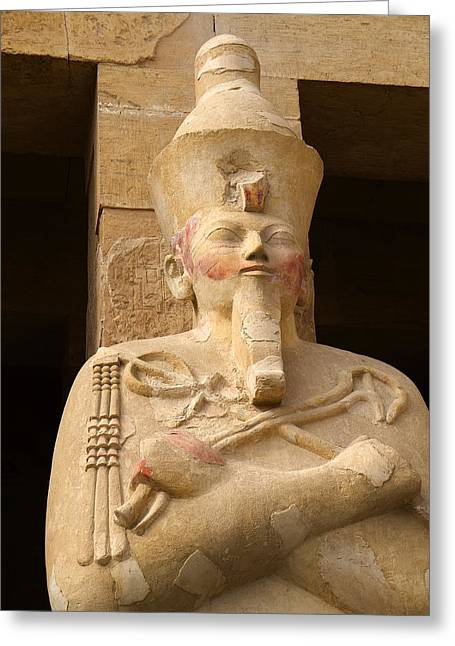 Hathor Greeting Cards - Ageless Egyptian Queen Greeting Card by Brenda Kean