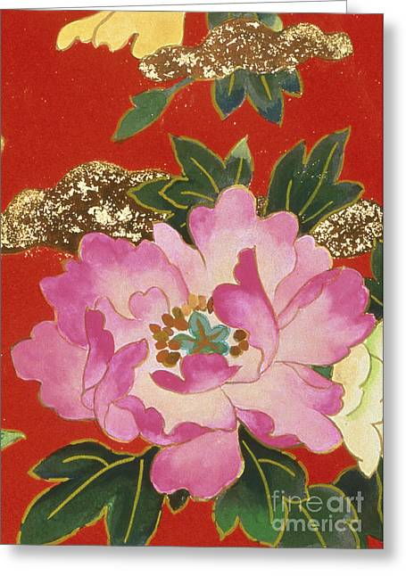 Dancing Petals Greeting Cards - Agemaki Crop III Greeting Card by Haruyo Morita