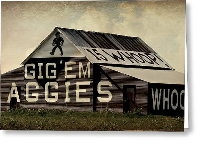 College Spirit Greeting Cards - Aggie Barn 4 - Whoop Greeting Card by Stephen Stookey