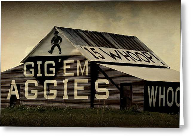 College Spirit Greeting Cards - Aggie Barn 5 - Whoop Greeting Card by Stephen Stookey