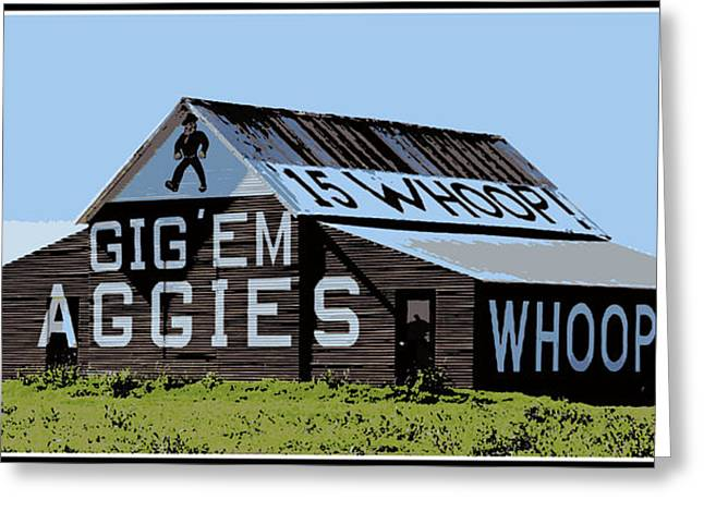 College Spirit Greeting Cards - Aggie Barn II Greeting Card by Stephen Stookey
