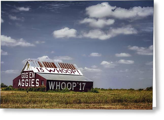 Whoops Greeting Cards - Aggie Barn Greeting Card by Joan Carroll