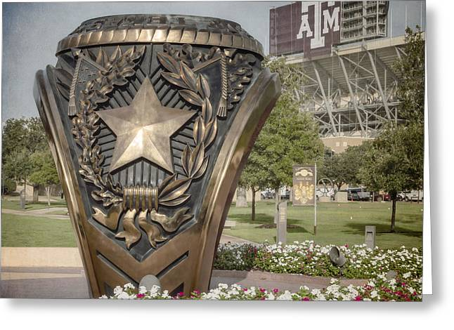 Aggies Greeting Cards - Aggie Ring II Greeting Card by Joan Carroll