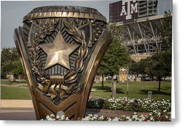 Texas A Greeting Cards - Aggie Ring Greeting Card by Joan Carroll