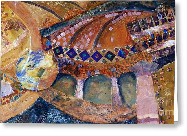Istanbul Mixed Media Greeting Cards - Agia Sophia Istanbul Greeting Card by Jacki Wright