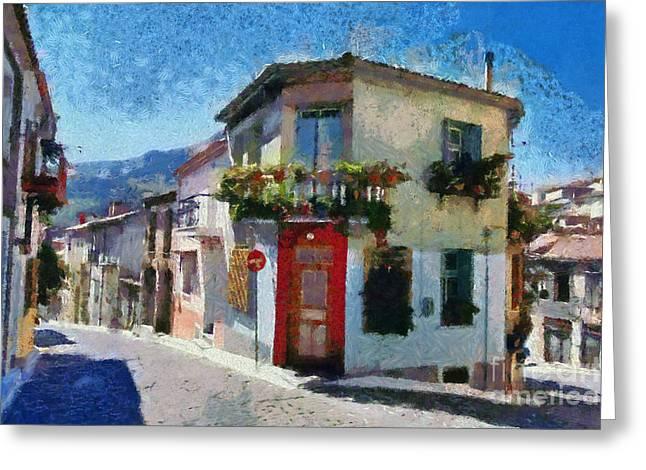 House Greeting Cards - Agiassos village Greeting Card by George Atsametakis