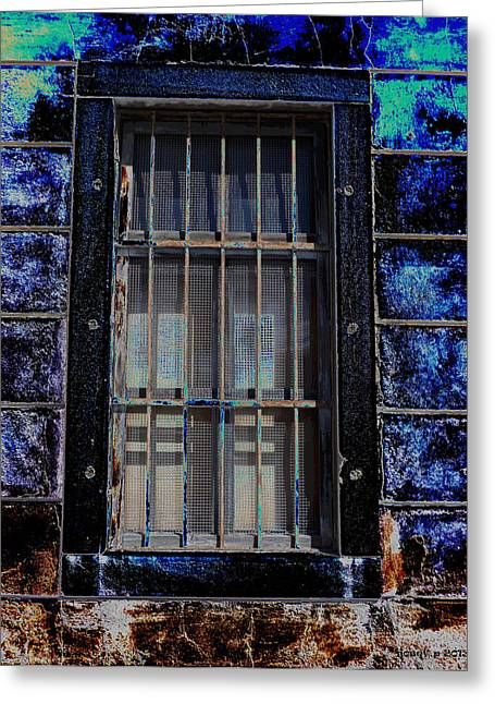 Fenster Mixed Media Greeting Cards - Aging Alte Fenster Serie  Greeting Card by Sir Josef Putsche
