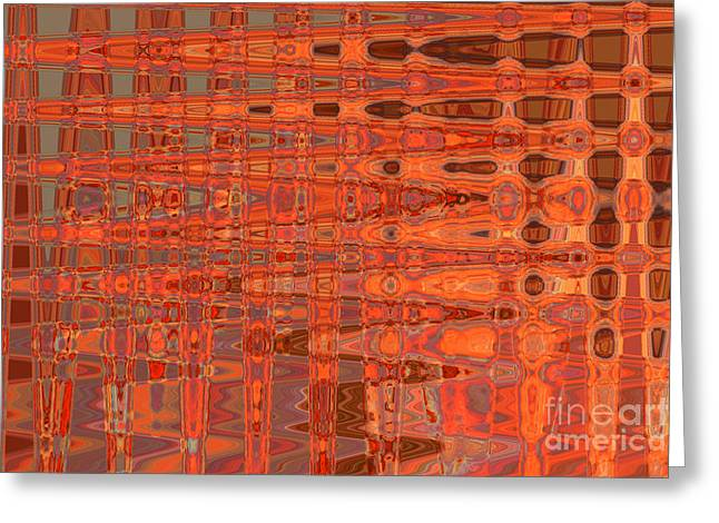Aging Gracefully - Abstract Art Greeting Card by Carol Groenen