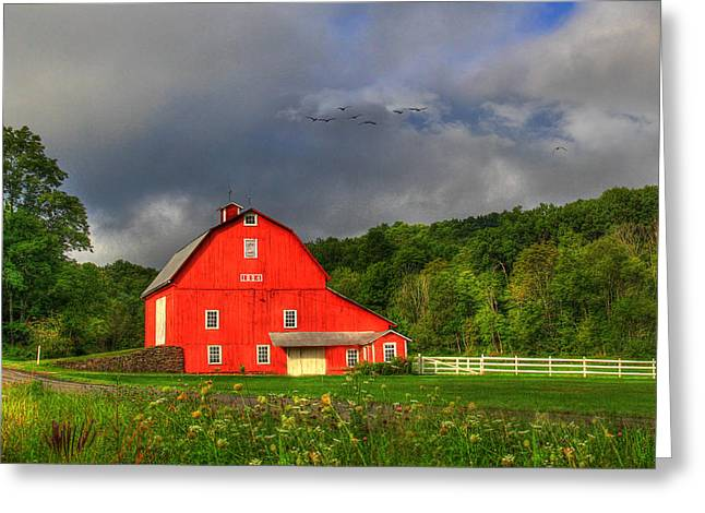 Barn Digital Greeting Cards - Aging Well Greeting Card by Sharon Batdorf