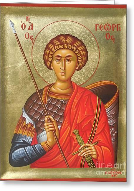 Agios Georgios - Saint George Greeting Card by Theodoros Patrinos