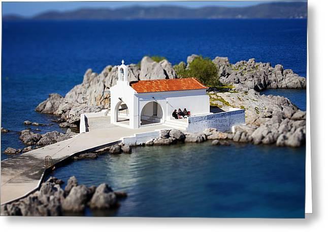 Klimis Greeting Cards - Agios Isidoros-greek Church Greeting Card by Emmanouil Klimis