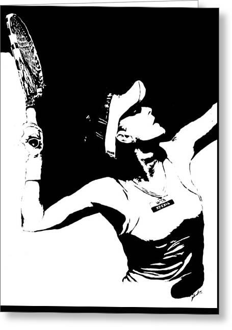 Agnieszka Radwanska Greeting Card by Paula Sharlea