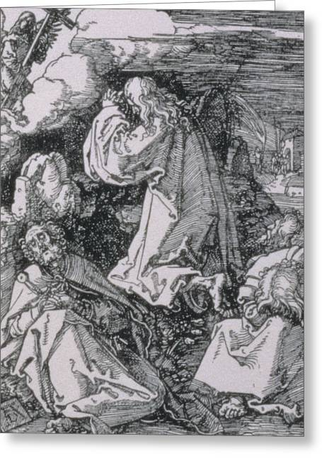 Agony In Garden Greeting Cards - Agony in the garden Greeting Card by Albrecht Durer or Duerer