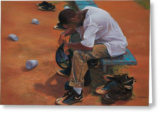 Agony Of Defeat Greeting Card by Christopher Reid