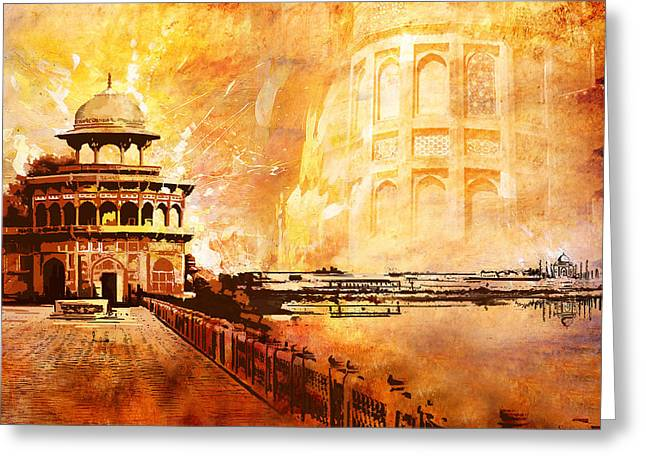 Devi Greeting Cards - Agra Fort Greeting Card by Catf