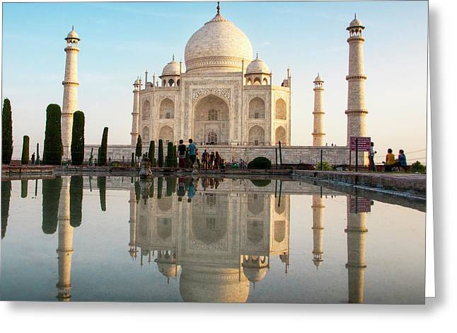 Agra, India The Taj Mahal Composite Greeting Card by Janet Muir