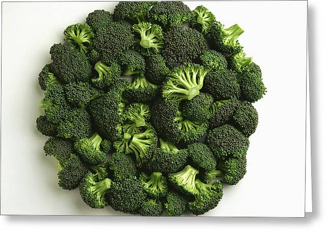 Interior Still Life Greeting Cards - Agriculture - Broccoli Florets, Large Greeting Card by Ed Young