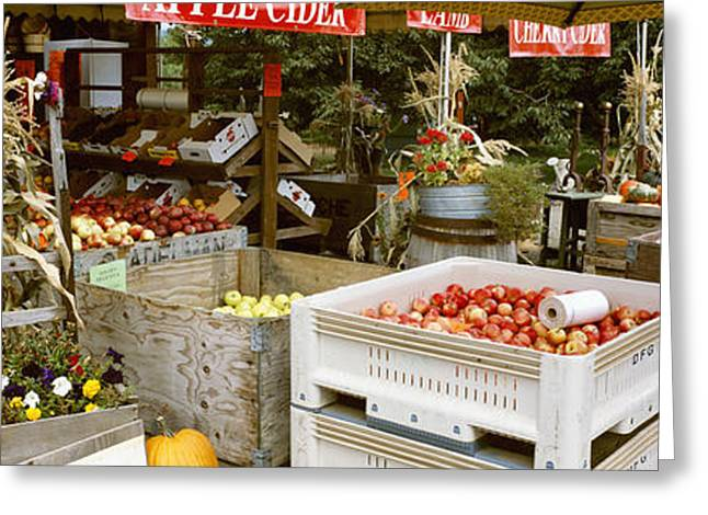 Farm Stand Greeting Cards - Agriculture - Country Fruit Stand Greeting Card by Charles Blakeslee