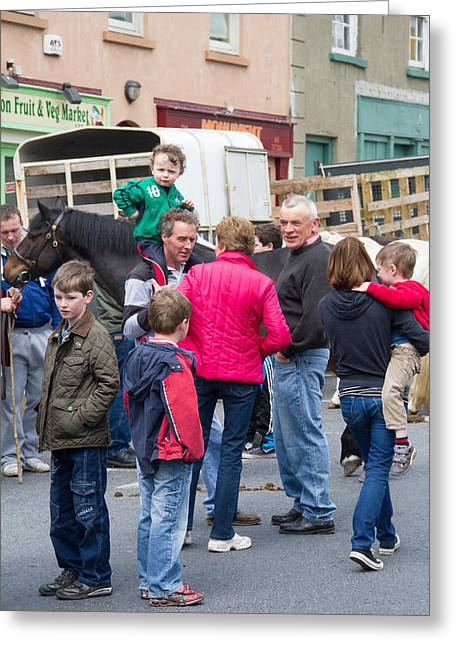 Ennistymon Greeting Cards - Agriculture Fair in Ennistymon Greeting Card by Sid Webb